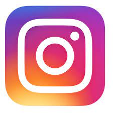 Rainbow coloured logo for Instagram