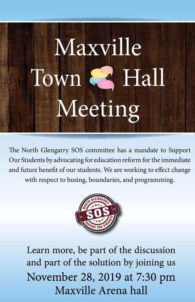 Poster for SOS Meeting November 28 at 7:30 pm