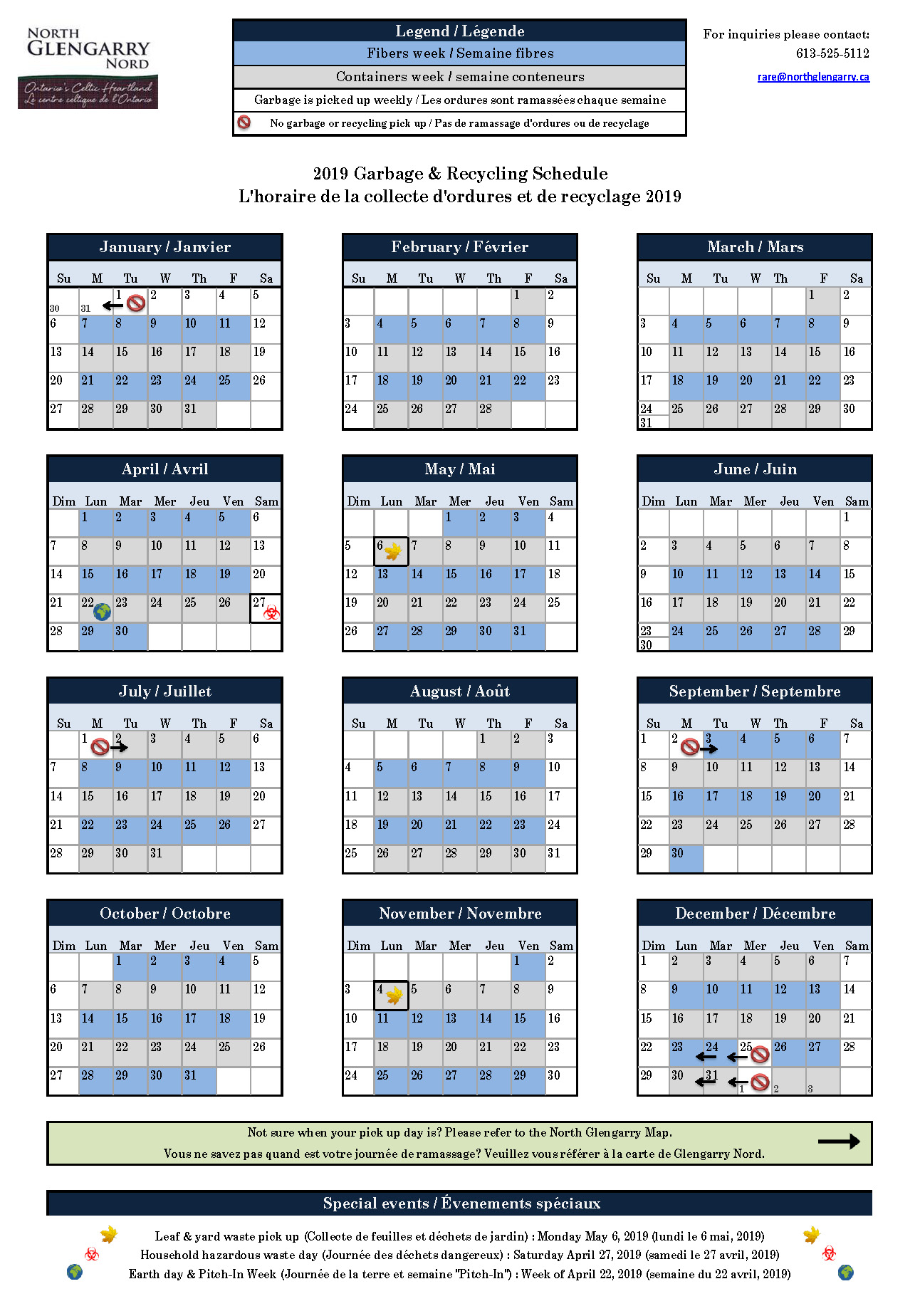 2019 Schedule for RARE pick up