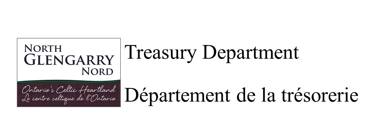 North Glengarry Logo with Treasury Department title